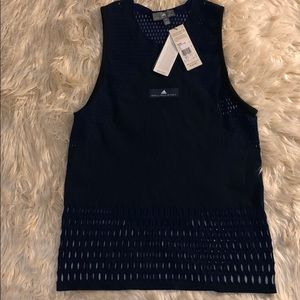 Adidas Stella McCartney navy Train HIIT tank. NWT!